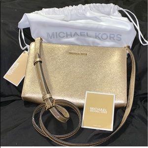 Gold glittery MK purse